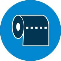 Toilettenpapier-Vektor-Symbol vektor