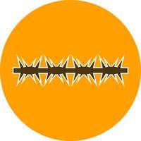 Stacheldraht-Vektor-Symbol