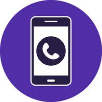 Ring mobil applikationsvektorikon