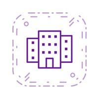 Gebäude-Vektor-Symbol vektor