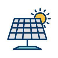 Sonnenkollektor-Vektor-Symbol vektor