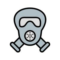 Gasmaske Vektor Icon