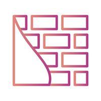 Ziegelmauer-Vektor-Symbol