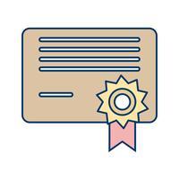 Vektor-Diplom-Symbol vektor