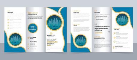 Kreative dreifach gefaltete Broschürenvorlage für moderne Unternehmen, dreifach gefaltetes Layout, A4, Broschüre im Briefformat vektor