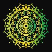 kreisförmiges Muster in Form eines Mandalas vektor