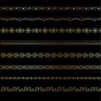 guld paisley gränsmönster vektor