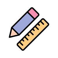 Vektor-Bleistift & Lineal-Symbol vektor