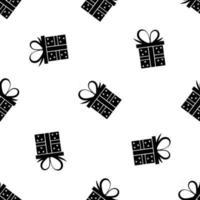 Weihnachtsgeschenkbox nahtloses Muster vektor