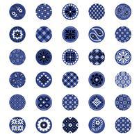 blå bandana mönsterkretsar vektor