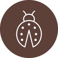 Lady Bug-Vektor-Symbol