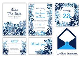 Hochzeitseinladung, Datum speichern, RSVP-Karte, Dankeschönkarte