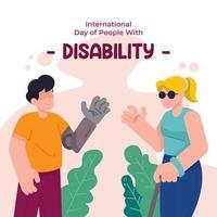 Karte des Internationalen Tages der Menschen mit Behinderung vektor