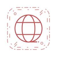 Vektor-Globus-Symbol vektor