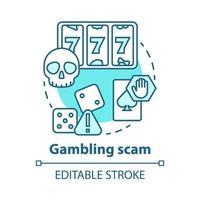 Symbol für das Konzept des Glücksspielbetrugs vektor