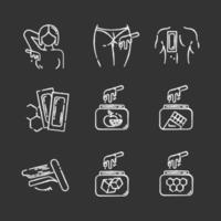 Wachskreide Icons Set vektor