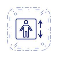 Vektor-Symbol anheben