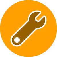 Schraubenschlüssel-Vektor-Symbol
