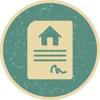 Hus Kontrakt Vektor Ikon