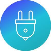 Plug-Vektor-Symbol