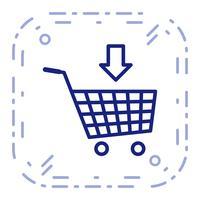 Vektor in den Warenkorb Symbol