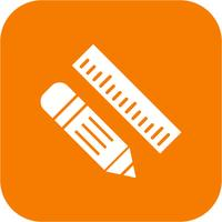 Vektor-Bleistift & Lineal-Symbol