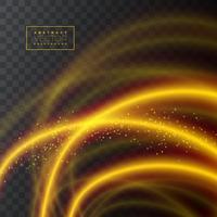 Abstrakte glänzende Lichteffektbeschaffenheit auf transparentem Hintergrund, Vektorillustration.