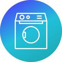 Waschmaschine-Vektor-Symbol
