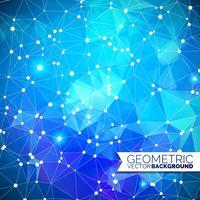 Abstrakter geometrischer Hintergrund. Dreieckdesign mit polygonaler Form und weißem Kreis für Illustration des Sozialen Netzes.