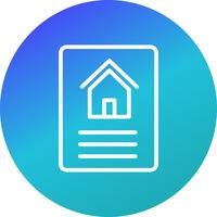 hus dokument vektorikonen