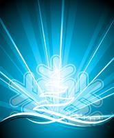 Vektor helgdag illustration med blank abstrakt julgran på blå bakgrund.