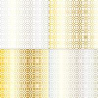 geometrisches Gittermuster aus Silber und Gold-Mod-Kreis
