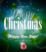 Abbildung der frohen Weihnachten des Vektors mit typografischem Design vektor
