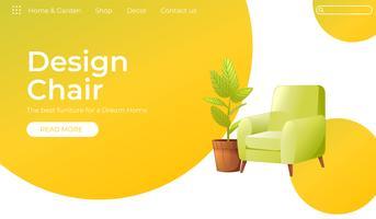 Klassisk stol för ditt hem inredning banner