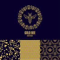 Insekt. Abzeichen Biene für Corporate Identity