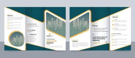 Kreative dreifach gefaltete Broschürenvorlage für moderne Unternehmen, dreifach gefaltetes Layout, Brief, Broschüre im A4-Format vektor