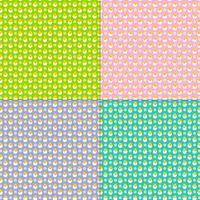 Ostern Kükenei mit Gänseblümchen-Mustern ausbrüten