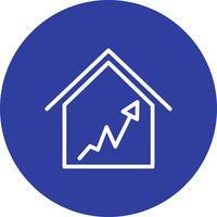 graf hus vektor ikon