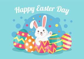 Söt kanin påsk vektor