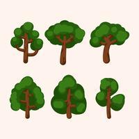 träd clipart set vektor