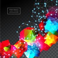 Vektor geometrische Hintergrund Illustration. Abstraktes polygonales Design.