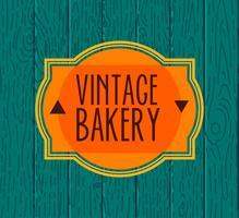 Samling av vintage retro bageri