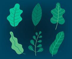 Grüne Blätter Clipart Set