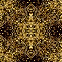Sömlös orientalisk prydnad i stil med barock.