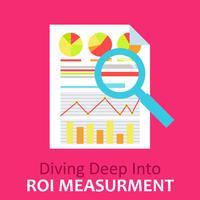 Avkastning på investeringar Dokument med diagram och beräkningar vektor