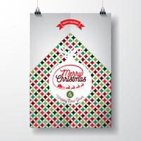 Vektor-frohe Weihnacht-Feiertags- und guten Rutsch ins Neue Jahr-Illustration vektor
