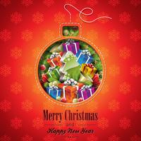 Vector Weihnachtsillustration mit abstrakten Balldesign- und -feiertagselementen