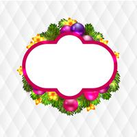 Julkrans med baubles och julgran, vektor