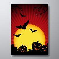 Vektor-Illustration zu einem Halloween-Thema mit Kürbis vektor