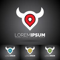 Vektor abstrakter Logo Design Template mit Gestaltungselementen. Saubere Symbolillustration auf dunklem Hintergrund